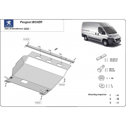 Peugeot Boxer (cover under the engine) 2.2HDi, 2.3TD, 3.0HDi - Metal sheet