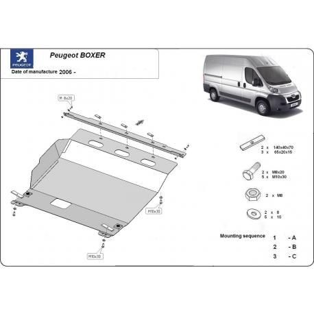 Peugeot Boxer kryt pod motor 2.2HDi, 2.3TD, 3.0HDi - Plech