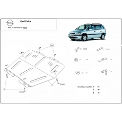 Opel Zafira (cover under the engine) - Metal sheet