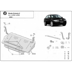 Skoda Octavia II (cover under the engine) 1.2, 1.4TSI, 1.6TDi - Metal sheet