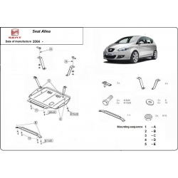 Seat Altea (cover under the engine) 1.9Pd, TDi - Metal sheet