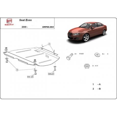 Seat Exeo kryt pod převodovku 1.9, 2.0TDi - Plech
