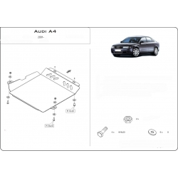 Audi A4 (Cover the automatic transmission) 1.8T - Metal sheet