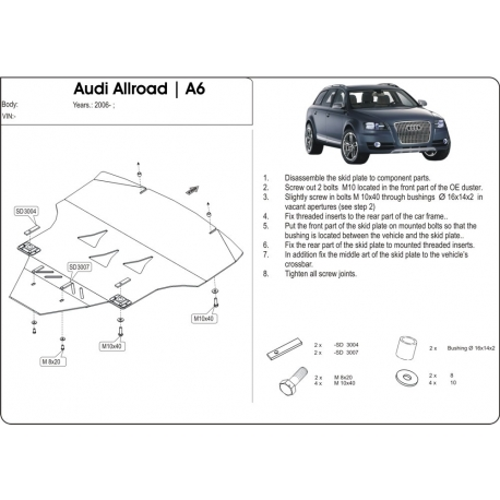 Audi Allroad (cover under the engine and gearbox) - Aluminium