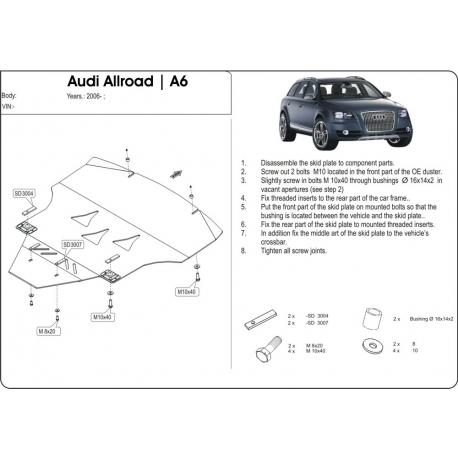 Audi Allroad Kryt pod motor a převodovku - Hliník