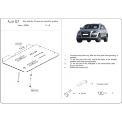 Audi Q7, S-Line (cover under the gearbox) 3.6 FSI, 4.2 FSI - Aluminium