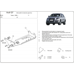 Audi Q7, S-Line (differential cover) - Metal sheet