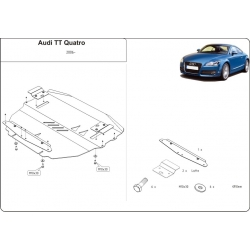 Audi TT (cover under the engine and gearbox) 2.0 TFSI, 3.2 V6 - Aluminium
