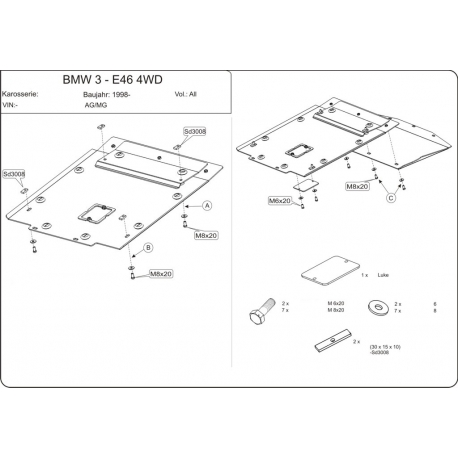 BMW E46 (cover under the engine) 2.5 (4x4) - Metal sheet