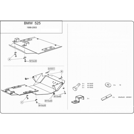 BMW E34 (cover under the engine) 2.5 (4x4) - Metal sheet