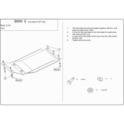 BMW E39 (Cover the manual transmission) 2.0, 2.3, 2.5, 2.8 - Metal sheet