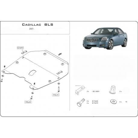 Cadillac BLS Kryt pod motor a převodovku 2.0 - Plech