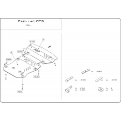 Cadillac CTS II (cover under the engine) 3.6 4WD - Aluminium