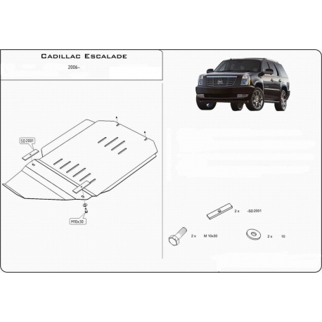 Cadillac Escalade III (cover under the gearbox) 6.2 V8 - Metal sheet