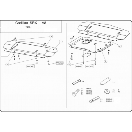 Cadillac SRX (cover under the engine) 3.6 - Metal sheet