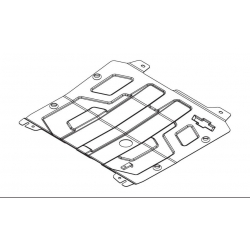 Chevrolet Cruze (cover under the engine and gearbox) 1.6 - Metal sheet