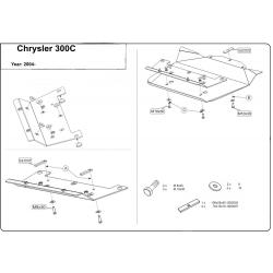 Chrysler 300 C (cover under the engine) 5.7, 6.1 - Aluminium