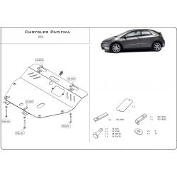 Chrysler Pacifika Kryt pod motor a převodovku 3.5 - Plech