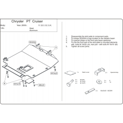 Chrysler PT Cruiser (cover under the engine and gearbox) 1.6, 2.0, 2.2 CRD, 2.4 - Metal sheet