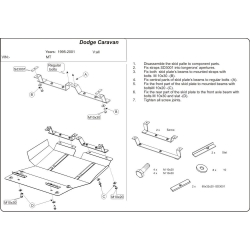 Dodge Caravan II (cover under the engine and gearbox) - Metal sheet