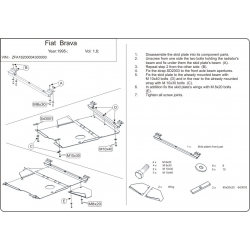Fiat Brava / Bravo (cover under the engine and gearbox) 1.6 - Metal sheet