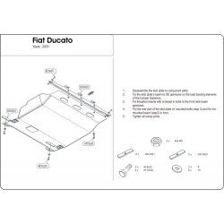 Fiat Ducato (cover under the engine and gearbox) 2.2HDi,2.3 TD,2.5TD, 3.0HDI - Metal sheet