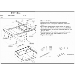 Fiat Stilo (cover under the engine and gearbox) - Metal sheet