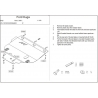 Ford Kuga (cover under the engine and gearbox) 2.0D, 2.5 - Metal sheet