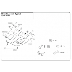 Hyundai Accent (cover under the engine and gearbox) - Metal sheet
