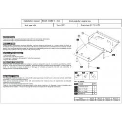 Isuzu D - Max (cover under the engine) 2.5 TD, 3.0 TD - Metal sheet