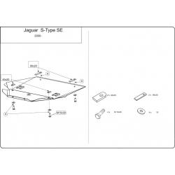 Jaguar S-Type SE (cover under the engine) 2.5, 2.7D, 3.0, 4.0, 4.2 - Metal sheet