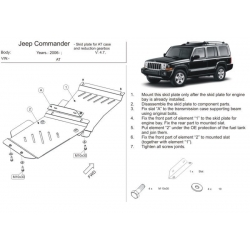 Jeep Grand Cherokee (cover under the gearbox) - Metal sheet