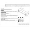 Jeep Wrangler (steering cover) - Metal sheet