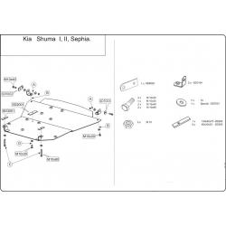KIA Sephia Kryt pod motor a převodovku 1.5, 1.6, 1.8 - Plech