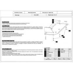 KIA Sorento (Cover the tank) - Metal sheet