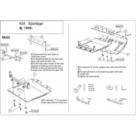 KIA Sportage Europe (cover under the engine) - Metal sheet