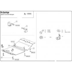KIA Sportage USA (cover under the engine) - Metal sheet
