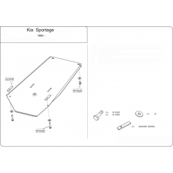 KIA Sportage USA (cover under the gearbox) - Metal sheet