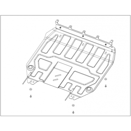 KIA Venga (cover under the engine and gearbox) 1.4, 1.6 - Metal sheet