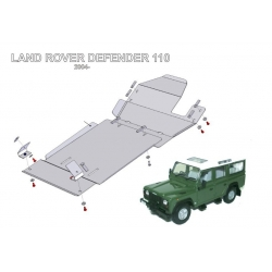 Land Rover Defender 90 / 110 (cover under the gearbox) - Metal sheet