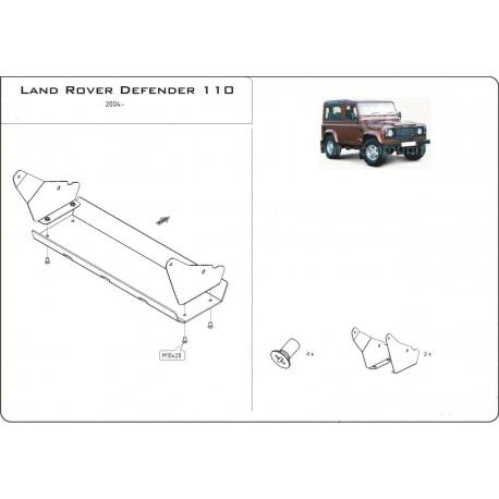 Land Rover Defender 90 / 110 (steering cover) - Aluminium