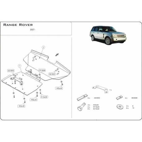 Range Rover / Supercharged (cover under the engine) 4.2 Kompressor, 4.4l V8 - Aluminium