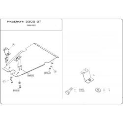 Maserati 3200 (Cover the automatic transmission) 3.2 - Aluminium