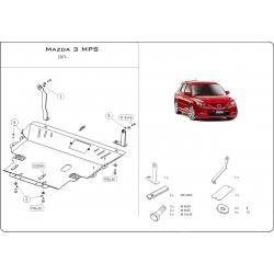 Mazda 3 MPS Kryt pod motor a převodovku 2.3 Turbo - Plech
