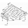 Mazda 6 (cover under the engine and gearbox) 1.8, 2.0, 2.0 D, 2.3 (AWD), 2.3MPS - Aluminium