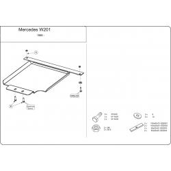 Mercedes-Benz C-Klasse / 190 (cover under the gearbox) 1.8 - 2.6 - Metal sheet