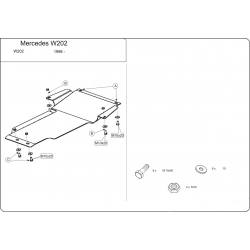 Mercedes-Benz C-Klasse (Cover the automatic transmission) nur 2.4 - Metal sheet