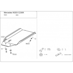 Mercedes-Benz C-Klasse Coupe (Cover the automatic transmission) 2.3 Kompressor - Metal sheet