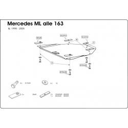 Mercedes-Benz M-Klasse (differential cover) - Metal sheet