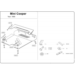 Mini Cooper MK2 (cover under the engine and gearbox) 1.3 - Metal sheet